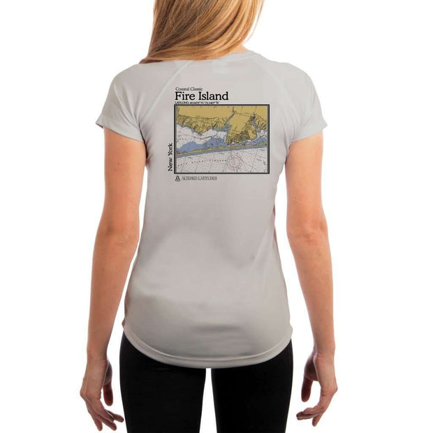 Coastal Classics Fire Island Womens Upf 5+ Uv/sun Protection Performance T-Shirt Pearl Grey / X-Small Shirt
