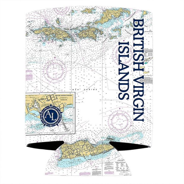 Altered Latitudes British Virgin Islands Chart Standard Can Cooler (4-Pack)