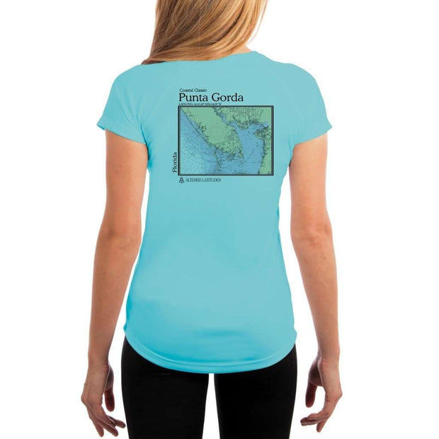 Coastal Classics Punta Gorda Womens Upf 5+ Uv/sun Protection Performance T-Shirt Water Blue / X-Small Shirt