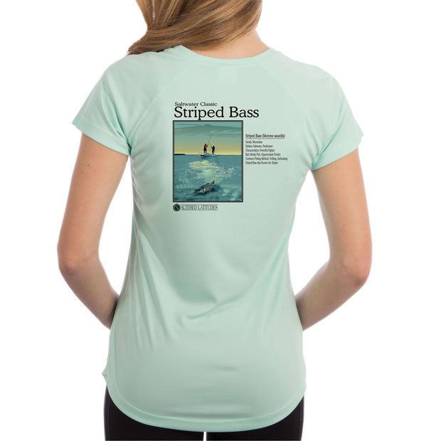 Saltwater Classic Striped Bass Women's UPF 5+ UV/Sun Protection Short Sleeve T-Shirt - Altered Latitudes