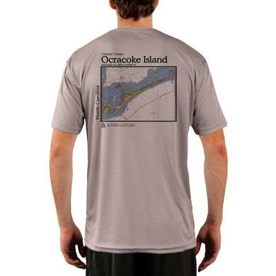 Coastal Classics Ocracoke Island Mens Upf 5+ Uv/sun Protection Performance T-Shirt Athletic Grey / X-Small Shirt