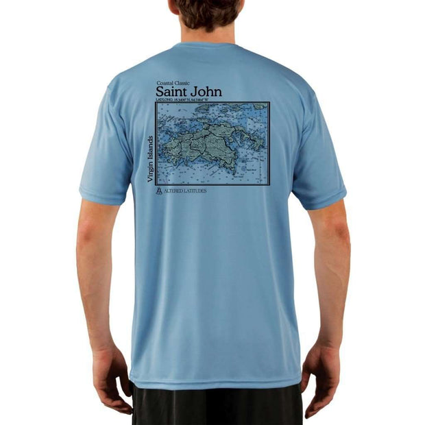 Coastal Classics Saint John Mens Upf 5+ Uv/sun Protection Performance T-Shirt Columbia Blue / X-Small Shirt