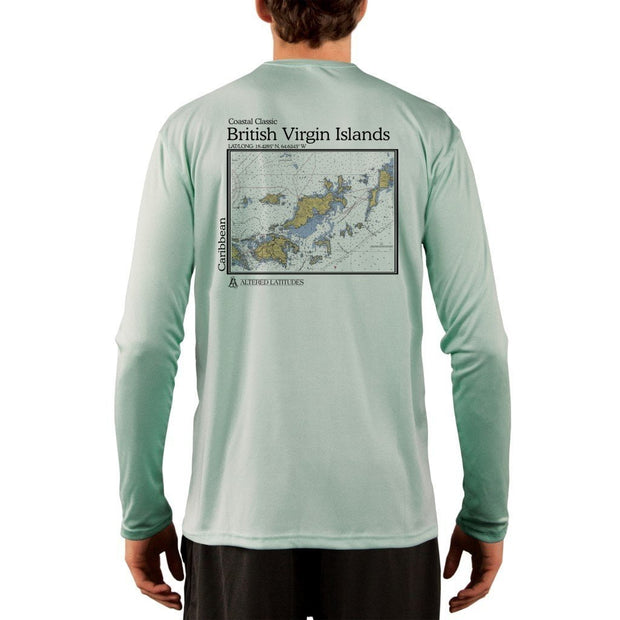 Coastal Classics British Virgin Islands Men's UPF 50+ UV/Sun Protection Performance T-shirt