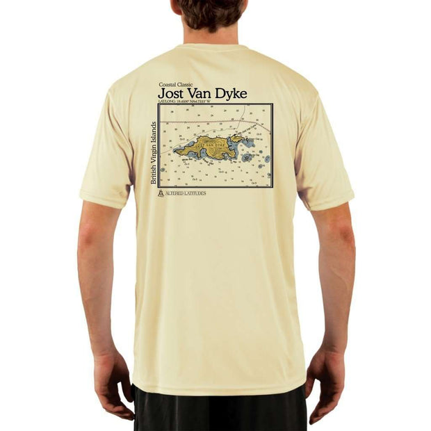 Coastal Classics Jost Van Dyke Mens Upf 5+ Uv/sun Protection Performance T-Shirt Pale Yellow / X-Small Shirt