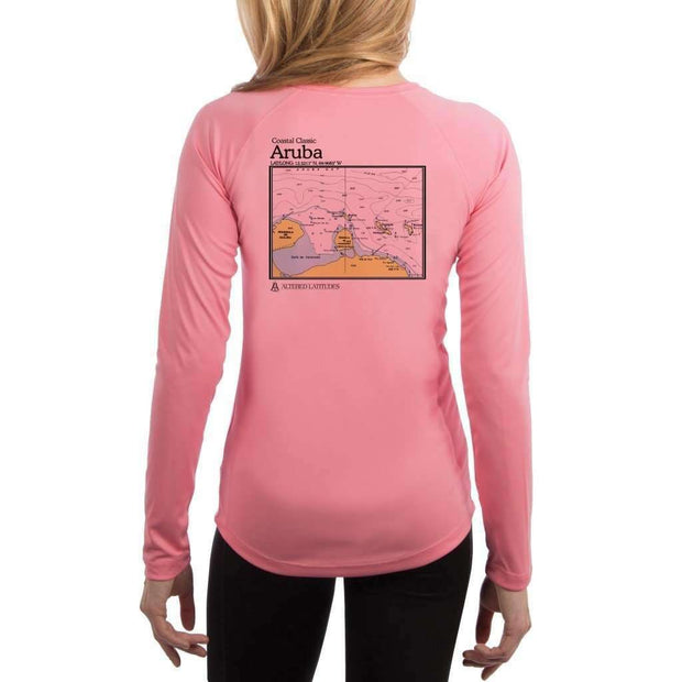 Coastal Classics Aruba Womens Upf 5+ Uv/sun Protection Performance T-Shirt Pretty Pink / X-Small Shirt