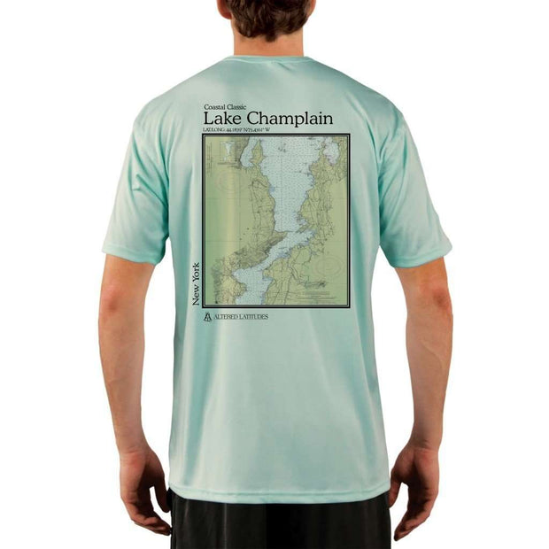 Coastal Classics Lake Champlain Mens Upf 5+ Uv/sun Protection Performance T-Shirt Seagrass / X-Small Shirt