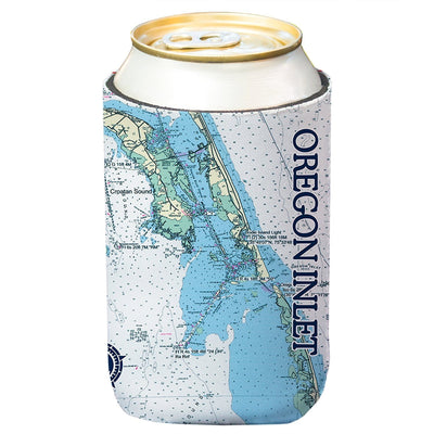 Altered Latitudes Oregon Inlet Chart Standard Can Cooler (4-Pack)