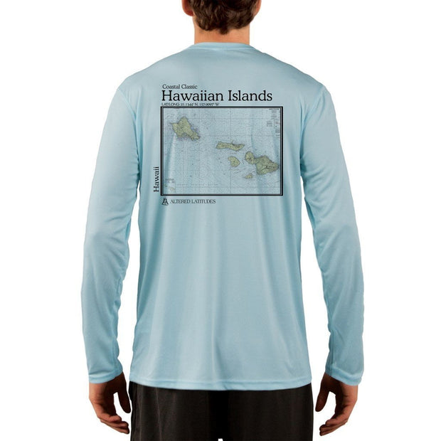 Coastal Classics Hawaiian Islands Men's UPF 50+ UV/Sun Protection Performance T-shirt