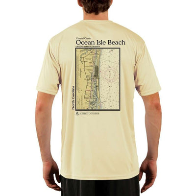 Coastal Classics Ocean Isle Beach Mens Upf 5+ Uv/sun Protection Performance T-Shirt Pale Yellow / X-Small Shirt