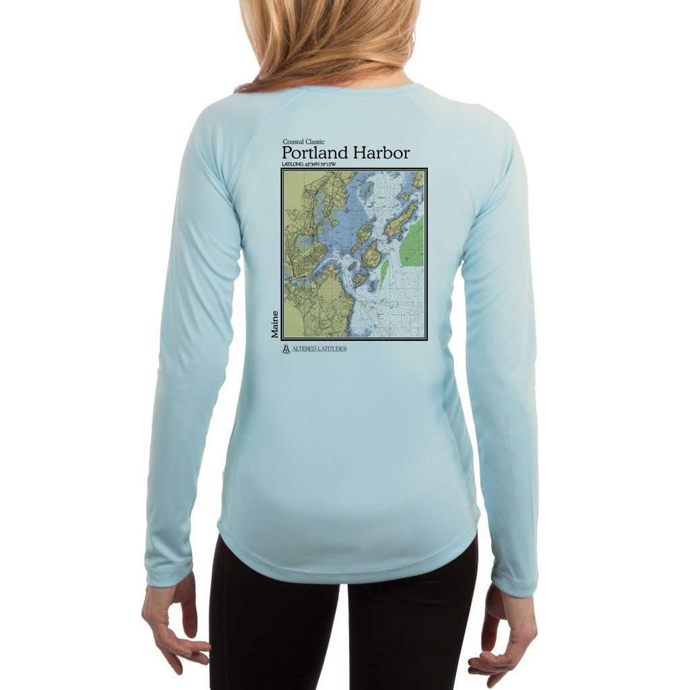 Coastal Classics Portland Harbor Womens Upf 5+ Uv/sun Protection Performance T-Shirt Arctic Blue / X-Small Shirt