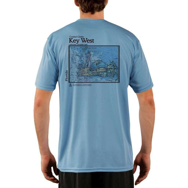 Coastal Classics Key West Mens Upf 5+ Uv/sun Protection Performance T-Shirt Columbia Blue / X-Small Shirt