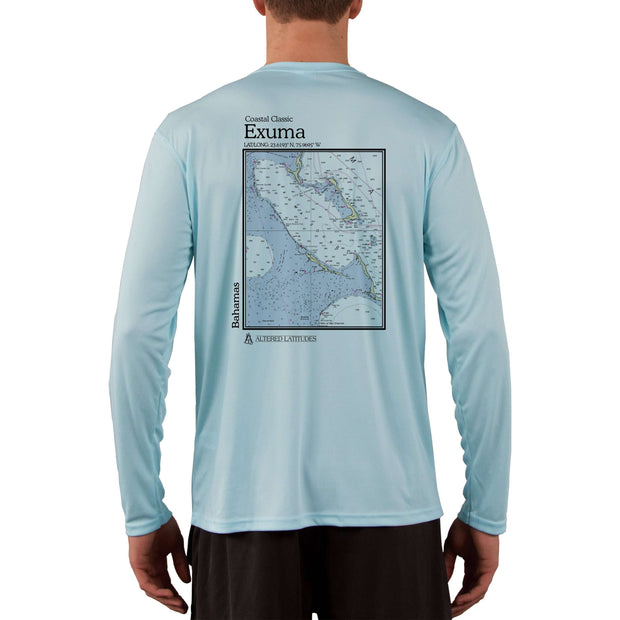 Coastal Classics Exuma Bahamas Men's UPF 50+ Long Sleeve T-Shirt
