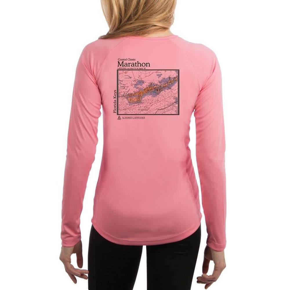 Coastal Classics Marathon Womens Upf 5+ Uv/sun Protection Performance T-Shirt Pretty Pink / X-Small Shirt