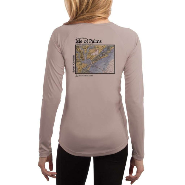 Coastal Classics Isle Of Palms Womens Upf 5+ Uv/sun Protection Performance T-Shirt Athletic Grey / X-Small Shirt