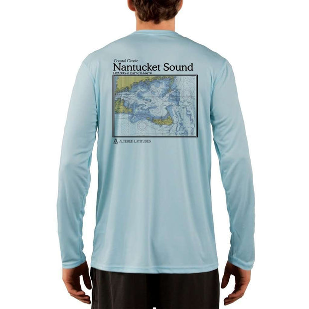 Coastal Classics Nantucket Sound Mens Upf 5+ Uv/sun Protection Performance T-Shirt Arctic Blue / X-Small Shirt