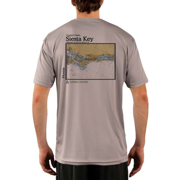 Coastal Classics Siesta Key Mens Upf 5+ Uv/sun Protection Performance T-Shirt Athletic Grey / X-Small Shirt