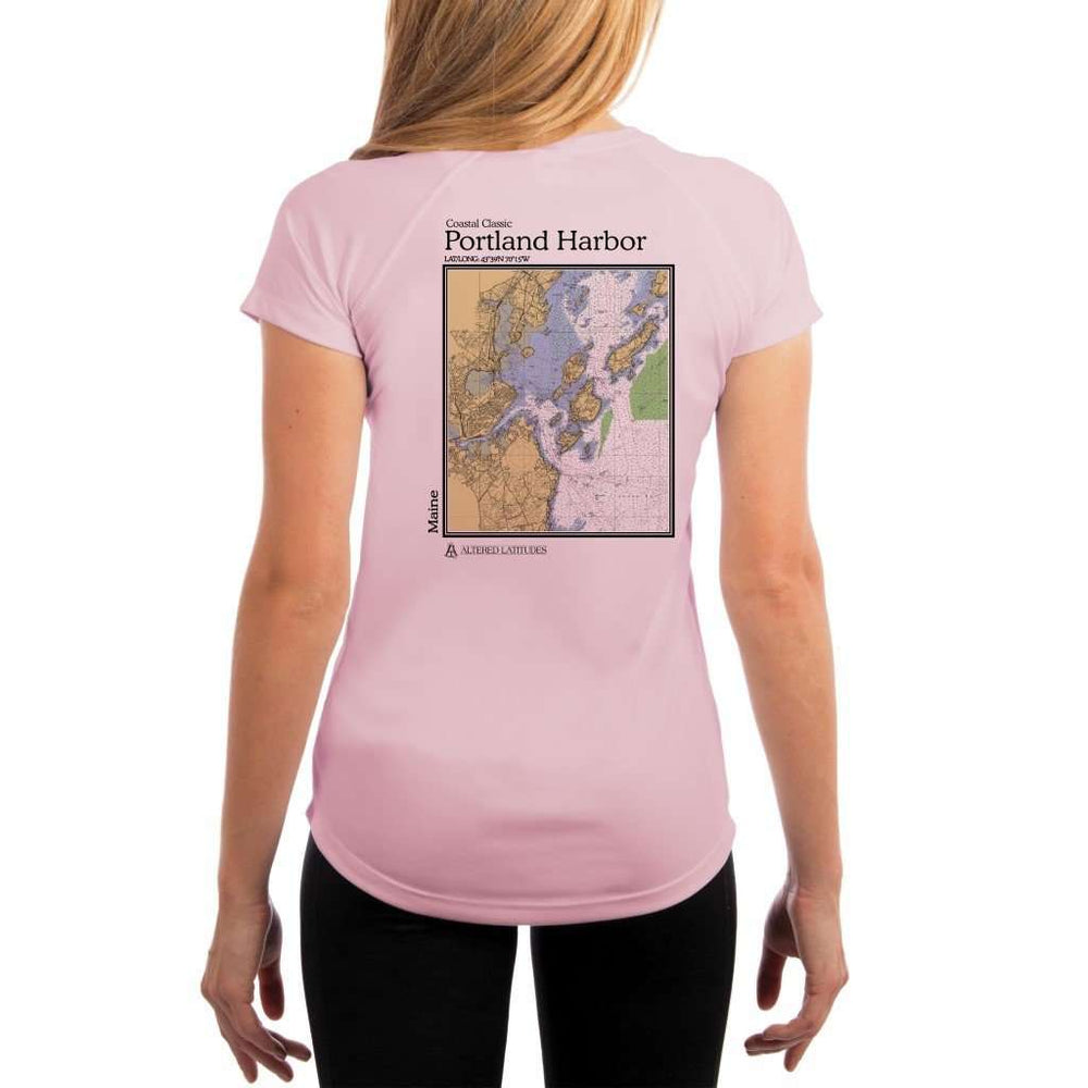 Coastal Classics Portland Harbor Womens Upf 5+ Uv/sun Protection Performance T-Shirt Pink Blossom / X-Small Shirt