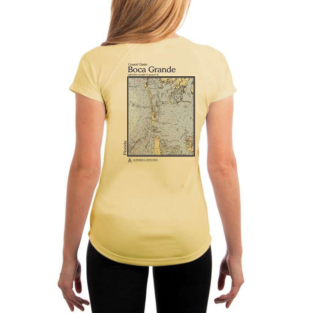 Coastal Classics Boca Grande Womens Upf 5+ Uv/sun Protection Performance T-Shirt Pale Yellow / X-Small Shirt