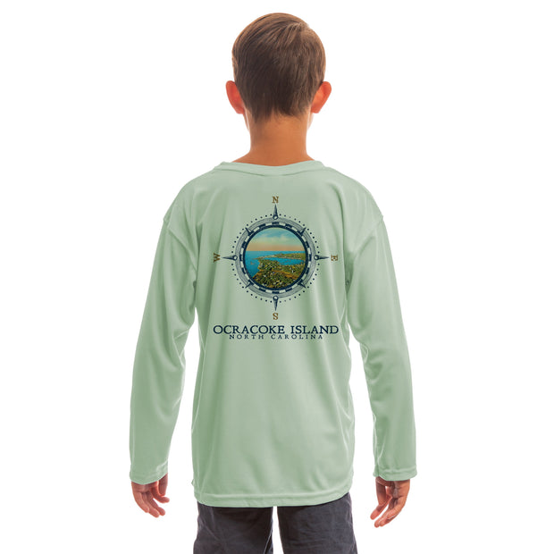 Compass Vintage Ocracoke Island Youth UPF 50+ UV/Sun Protection Long Sleeve T-Shirt