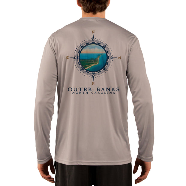 Compass Vintage Outer Banks Men's UPF 50+ Long Sleeve T-Shirt