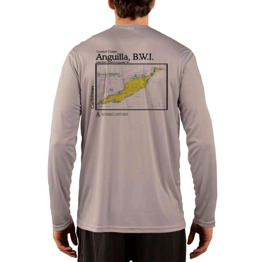 Coastal Classics Anguilla, B.W.I. Men's UPF 50+ UV/Sun Protection Performance T-shirt