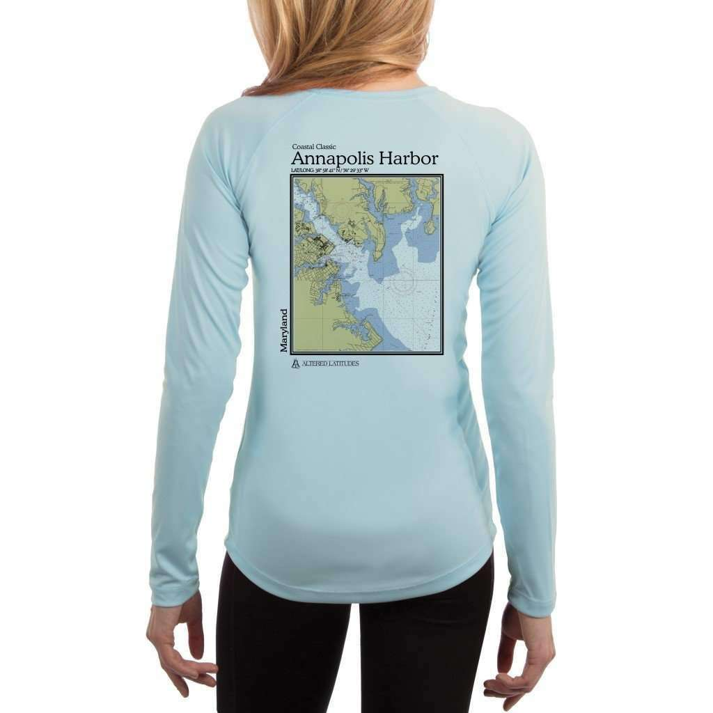 Coastal Classics Annapolis Harbor Women's UPF 50+ UV/Sun Protection Performance T-shirt