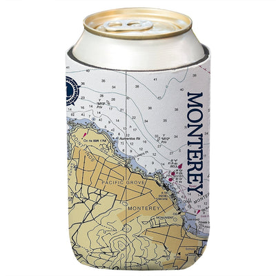 Altered Latitudes Monterey Chart Standard Can Cooler (4-Pack)