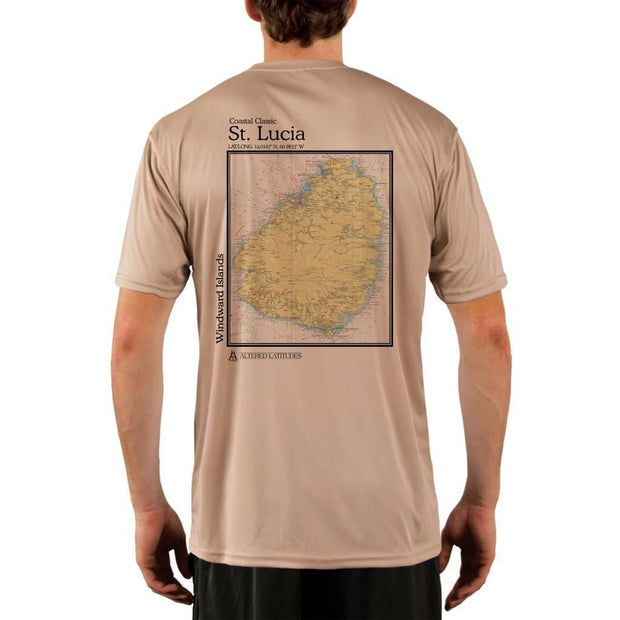 Coastal Classics St. Lucia Mens Upf 5+ Uv/sun Protection Performance T-Shirt Tan / X-Small Shirt