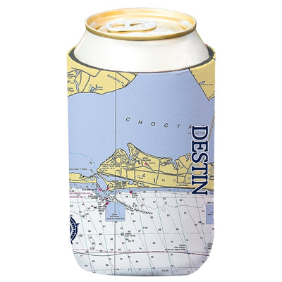 Altered Latitudes Destin Chart Standard Can Cooler (4-Pack)