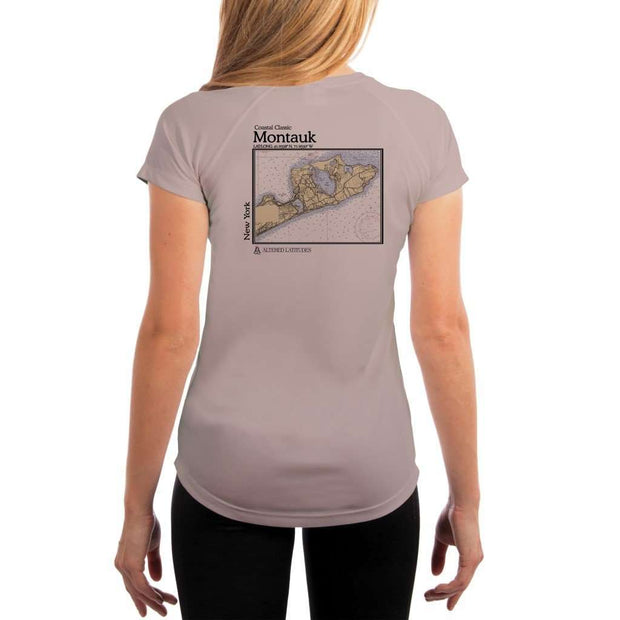Coastal Classics Montauk Womens Upf 5+ Uv/sun Protection Performance T-Shirt Athletic Grey / X-Small Shirt
