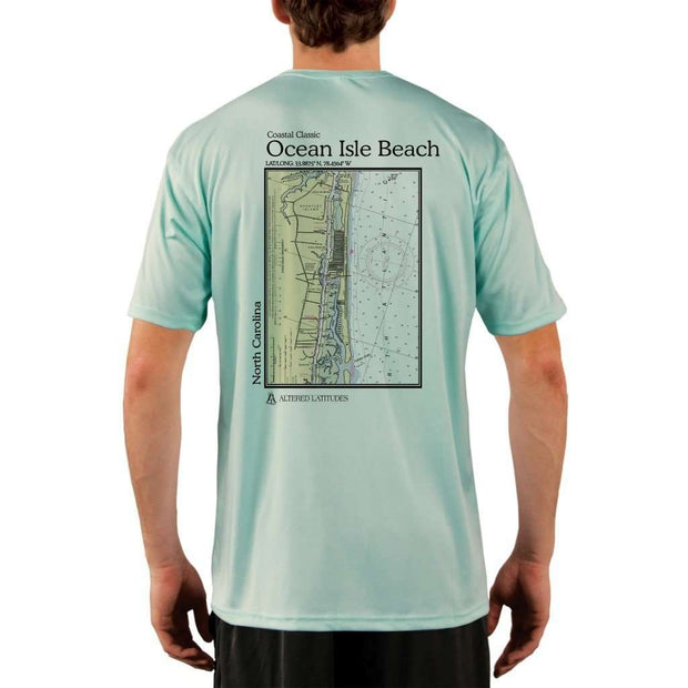 Coastal Classics Ocean Isle Beach Mens Upf 5+ Uv/sun Protection Performance T-Shirt Seagrass / X-Small Shirt
