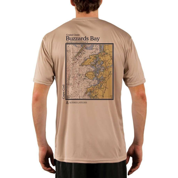 Coastal Classics Buzzards Bay Mens Upf 5+ Uv/sun Protection Performance T-Shirt Tan / X-Small Shirt