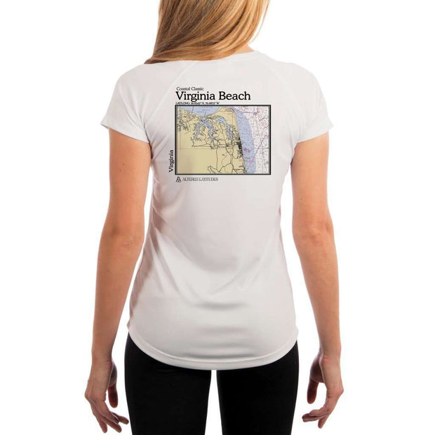 Coastal Classics Virginia Beach Womens Upf 5+ Uv/sun Protection Performance T-Shirt White / X-Small Shirt