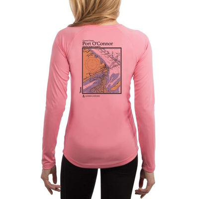Coastal Classics Port O'Connor Women's UPF 50+ UV/Sun Protection Performance T-shirt
