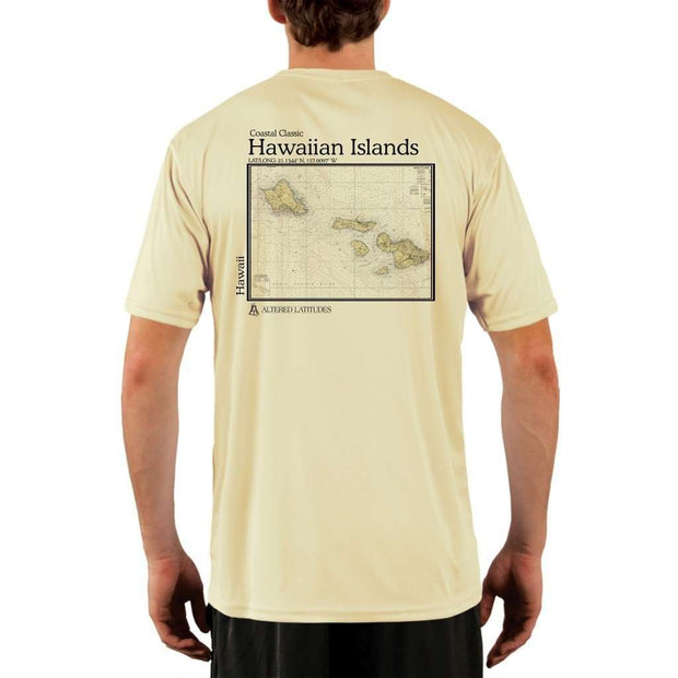 Coastal Classics Hawaiian Islands Mens Upf 5+ Uv/sun Protection Performance T-Shirt Pale Yellow / X-Small Shirt