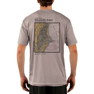 Coastal Classics Murrells Inlet Mens Upf 5+ Uv/sun Protection Performance T-Shirt Athletic Grey / X-Small Shirt