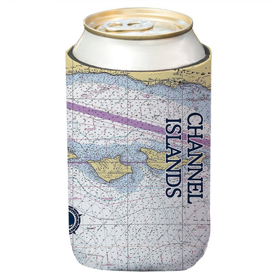Altered Latitudes Channel Islands Chart Standard Can Cooler (4-Pack)