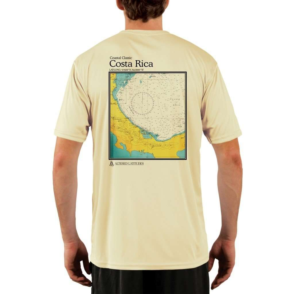Coastal Classics Costa Rica Mens Upf 50+ Uv/sun Protection Performance T-Shirt Pale Yellow / X-Small Shirt