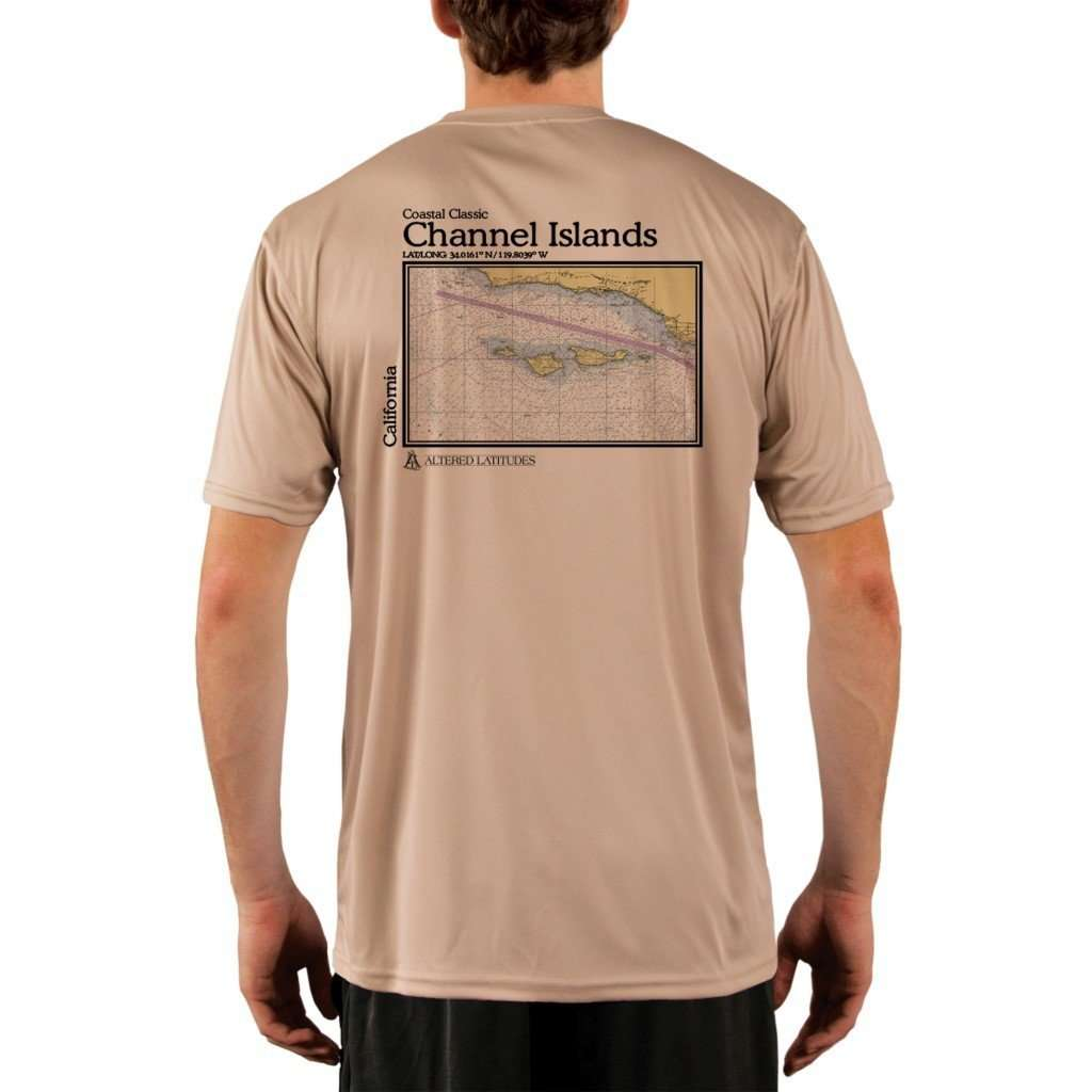 Coastal Classics Channel Islands Mens Upf 50+ Uv/sun Protection Performance T-Shirt Tan / X-Small Shirt
