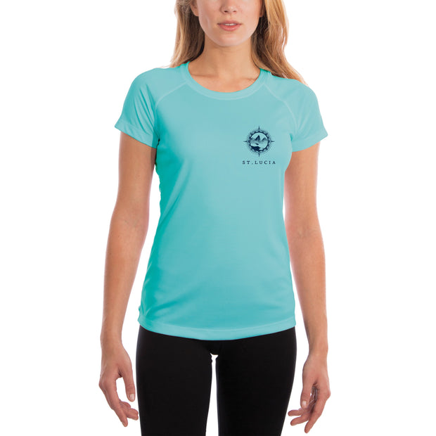 Compass Vintage St.Lucia Women's UPF 50+ Short Sleeve T-shirt