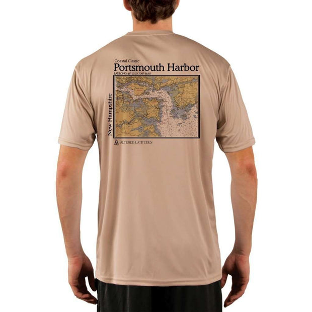 Coastal Classics Portsmouth Harbor Mens Upf 5+ Uv/sun Protection Performance T-Shirt Tan / X-Small Shirt