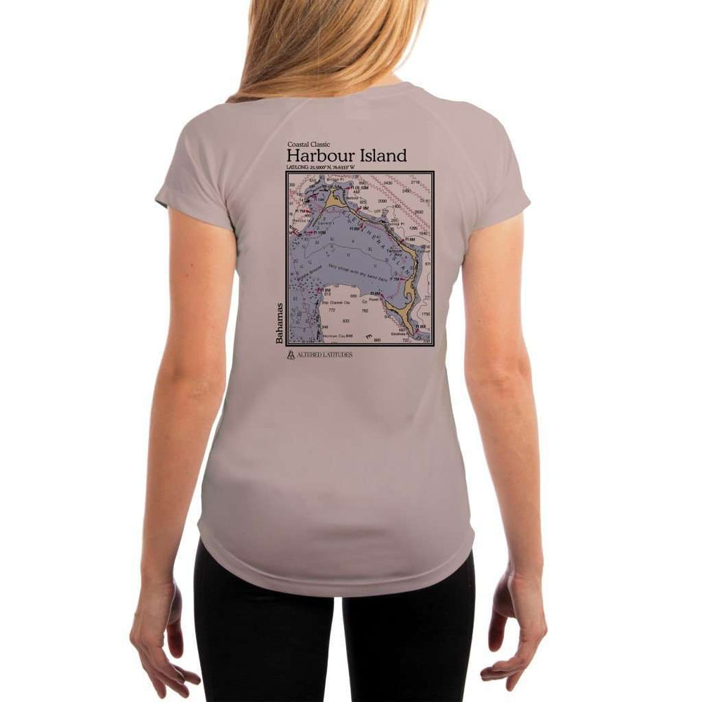 Coastal Classics Harbour Island Womens Upf 5+ Uv/sun Protection Performance T-Shirt Athletic Grey / X-Small Shirt