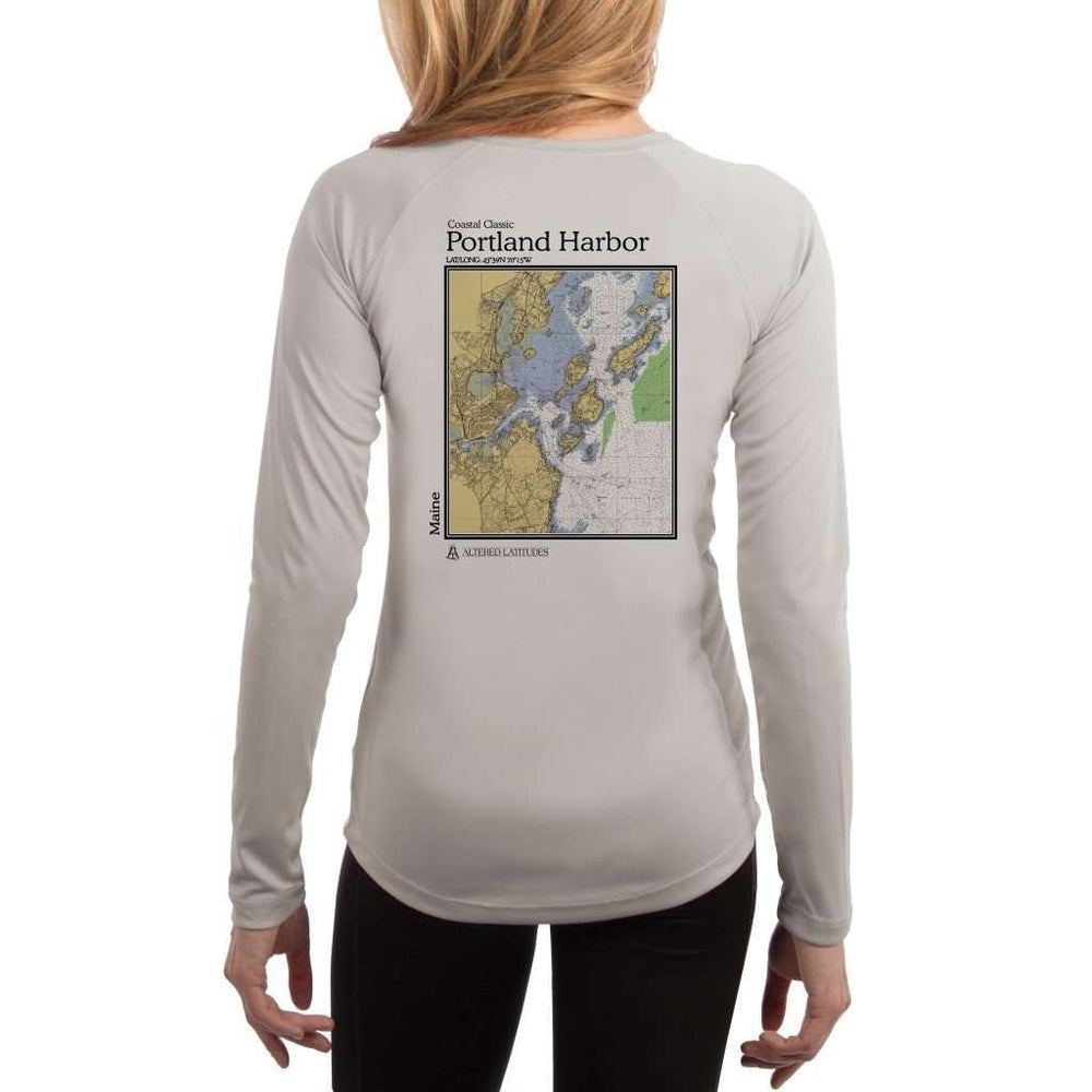 Coastal Classics Portland Harbor Womens Upf 5+ Uv/sun Protection Performance T-Shirt Pearl Grey / X-Small Shirt