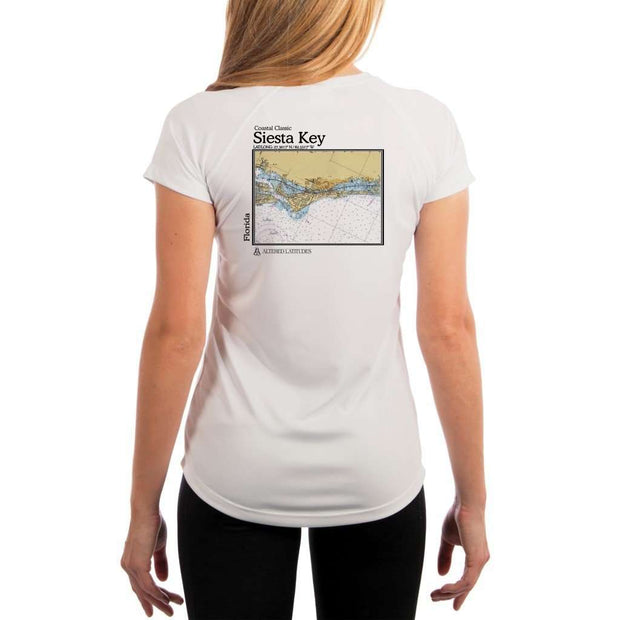 Coastal Classics Siesta Key Womens Upf 5+ Uv/sun Protection Performance T-Shirt White / X-Small Shirt