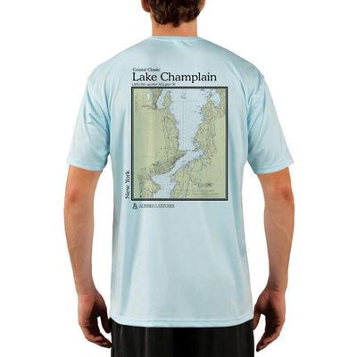 Coastal Classics Lake Champlain Mens Upf 5+ Uv/sun Protection Performance T-Shirt Arctic Blue / X-Small Shirt