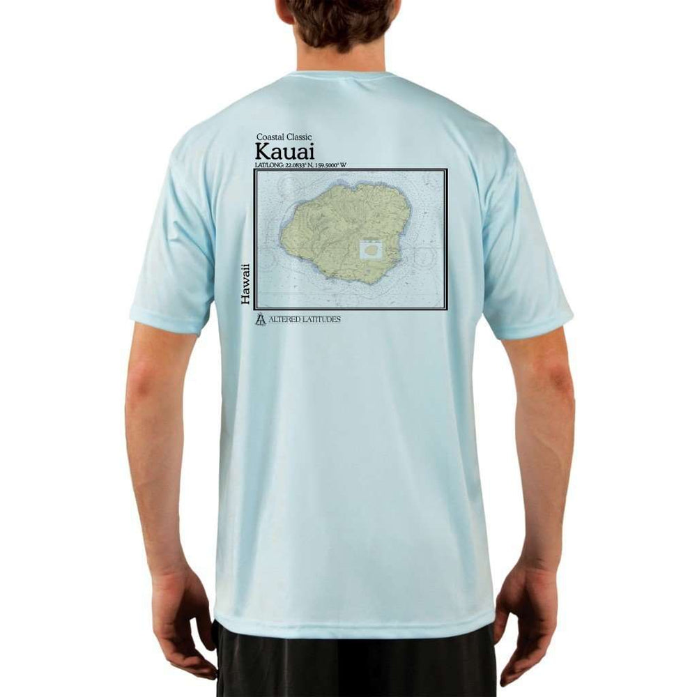 Coastal Classics Kauai Mens Upf 5+ Uv/sun Protection Performance T-Shirt Arctic Blue / X-Small Shirt