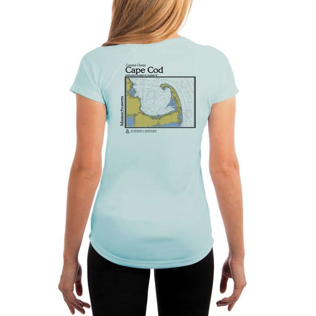 Coastal Classics Cape Cod Womens Upf 5+ Uv/sun Protection Performance T-Shirt Arctic Blue / X-Small Shirt