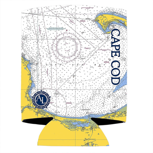 Altered Latitudes Cape Cod Chart Standard Can Cooler (4-Pack)