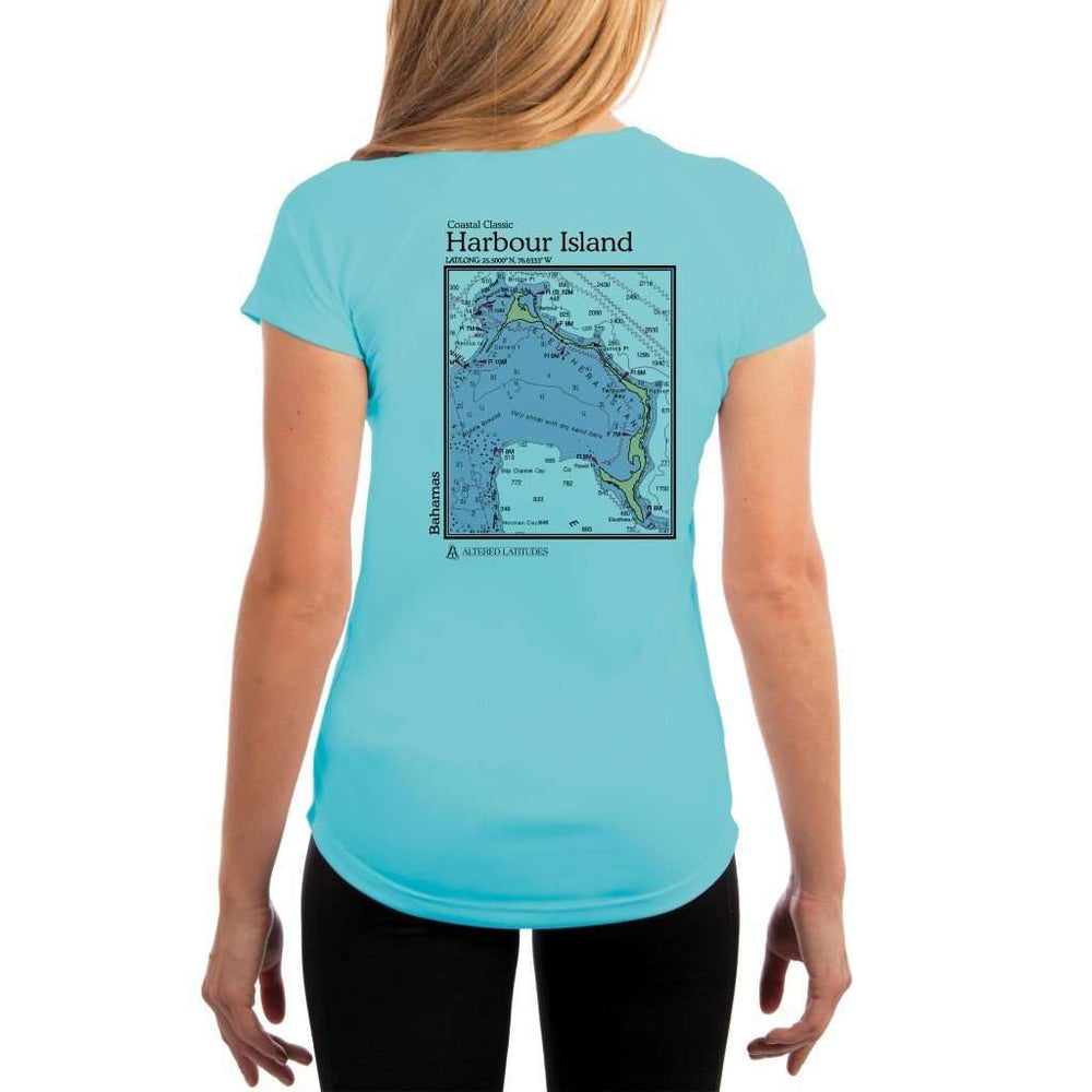 Coastal Classics Harbour Island Womens Upf 5+ Uv/sun Protection Performance T-Shirt Water Blue / X-Small Shirt