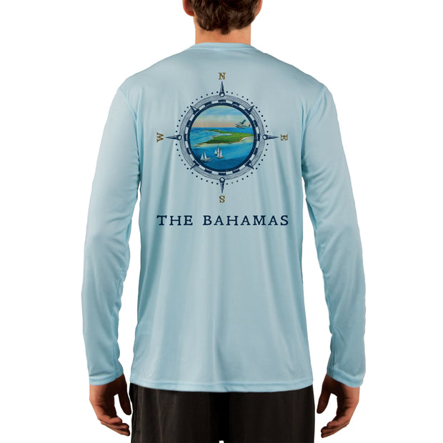 Compass Vintage Bahamas Men's UPF 50+ Long Sleeve T-Shirt